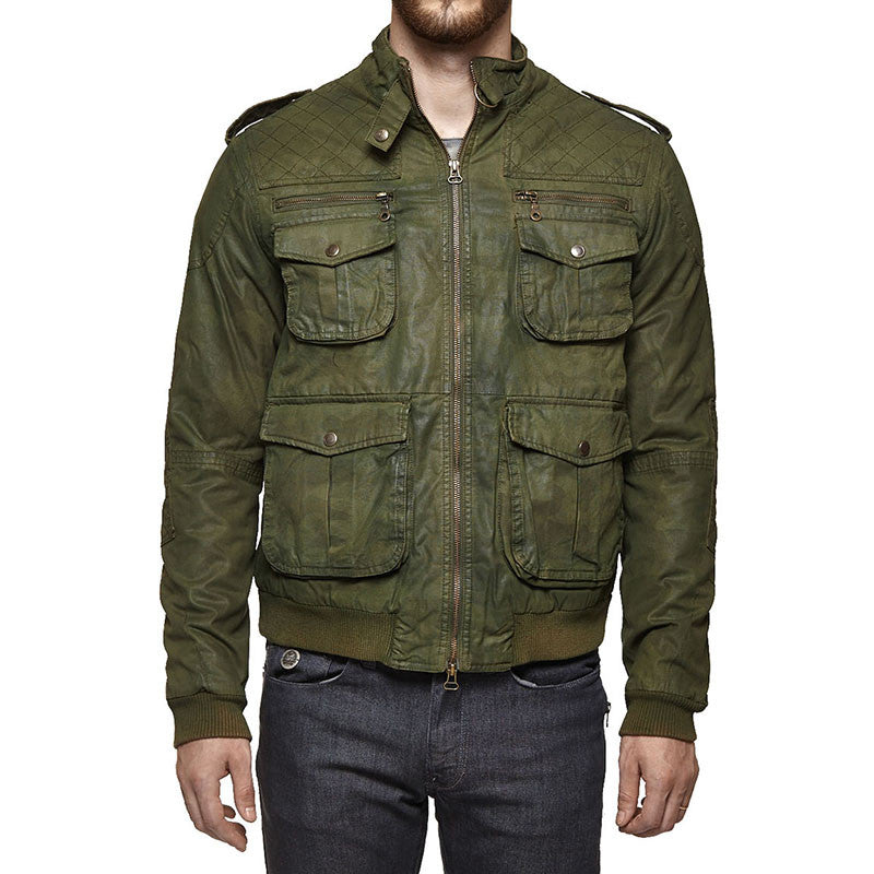 W/D Despatch Camo Jacket Olive Green
