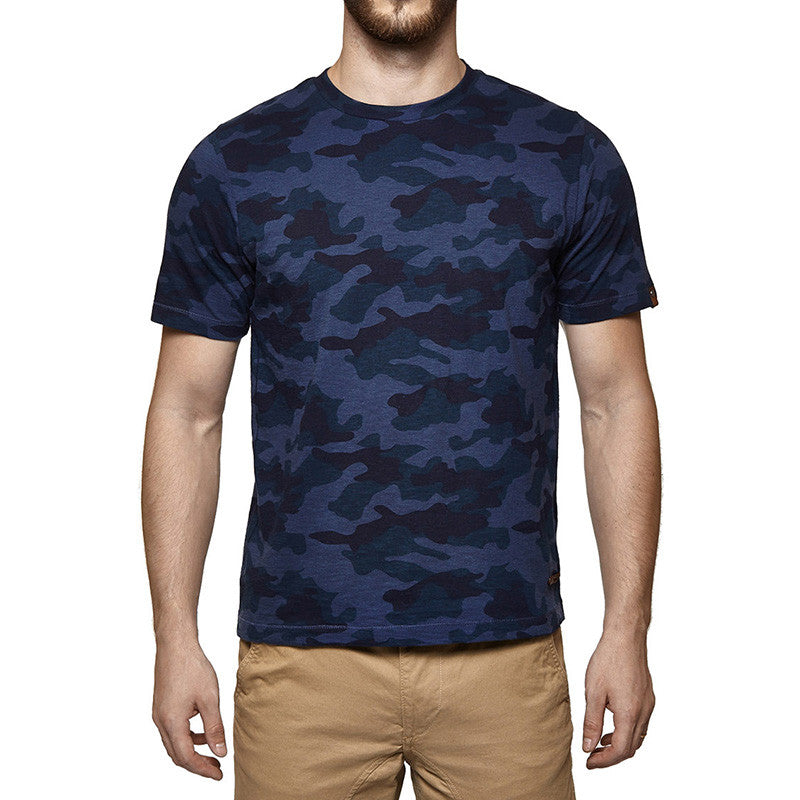Camouflage Tee Blue - Royal Enfield