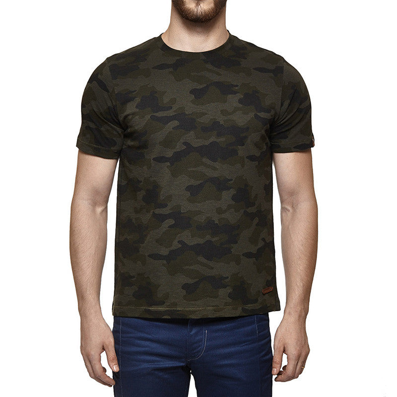 Camouflage Tee Olive - Royal Enfield