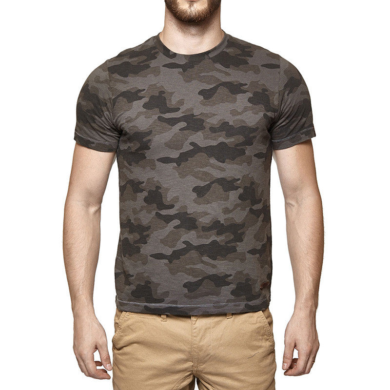 Camouflage Tee Charcoal - Royal Enfield