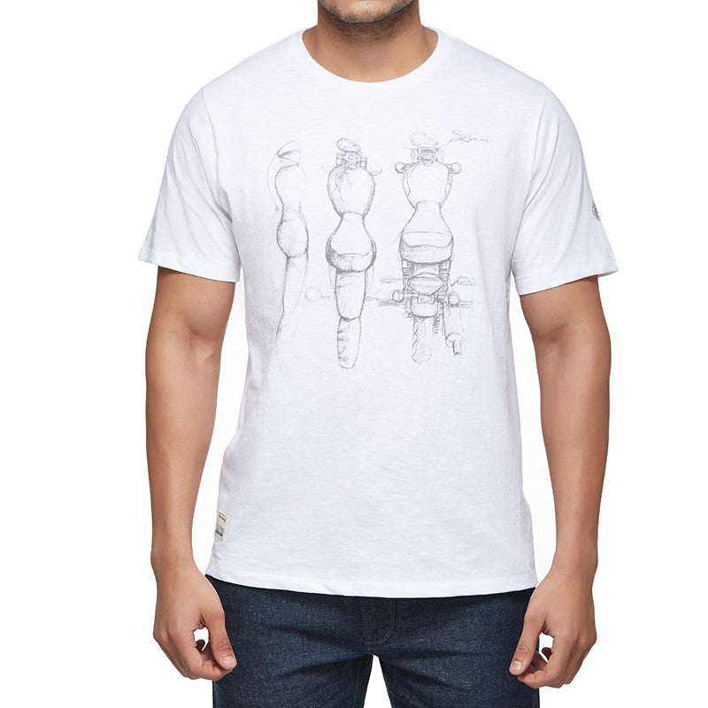 Rider Mania - Motorcycle sketch tee - Royal Enfield - 1