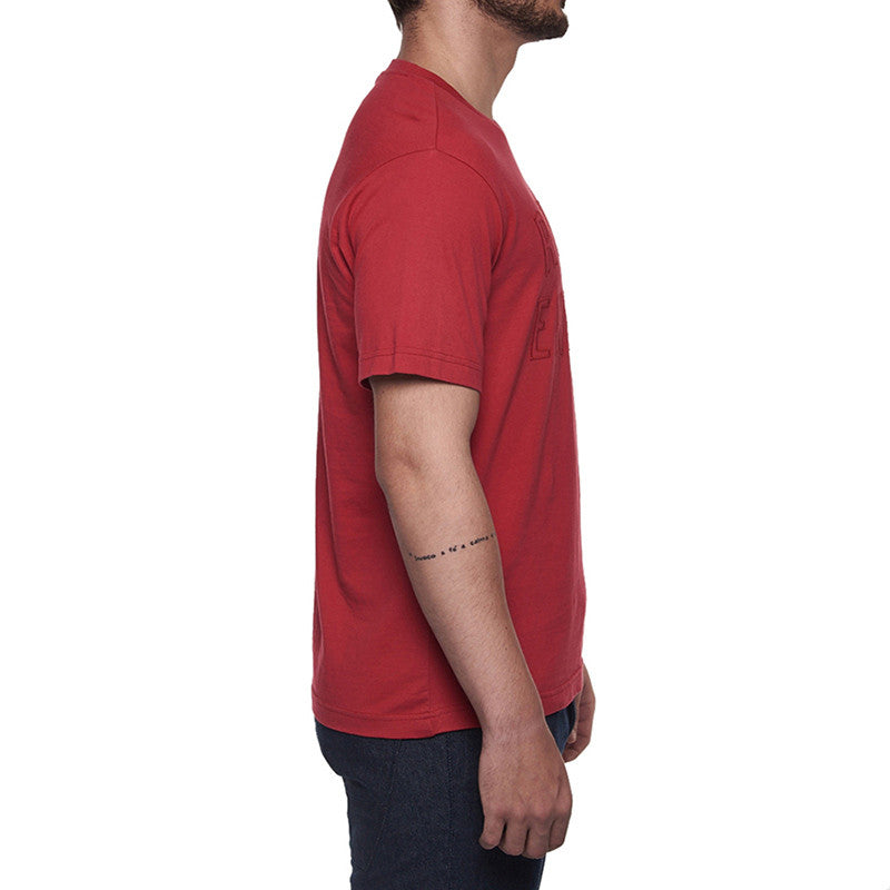 Re Embossed Tee Red