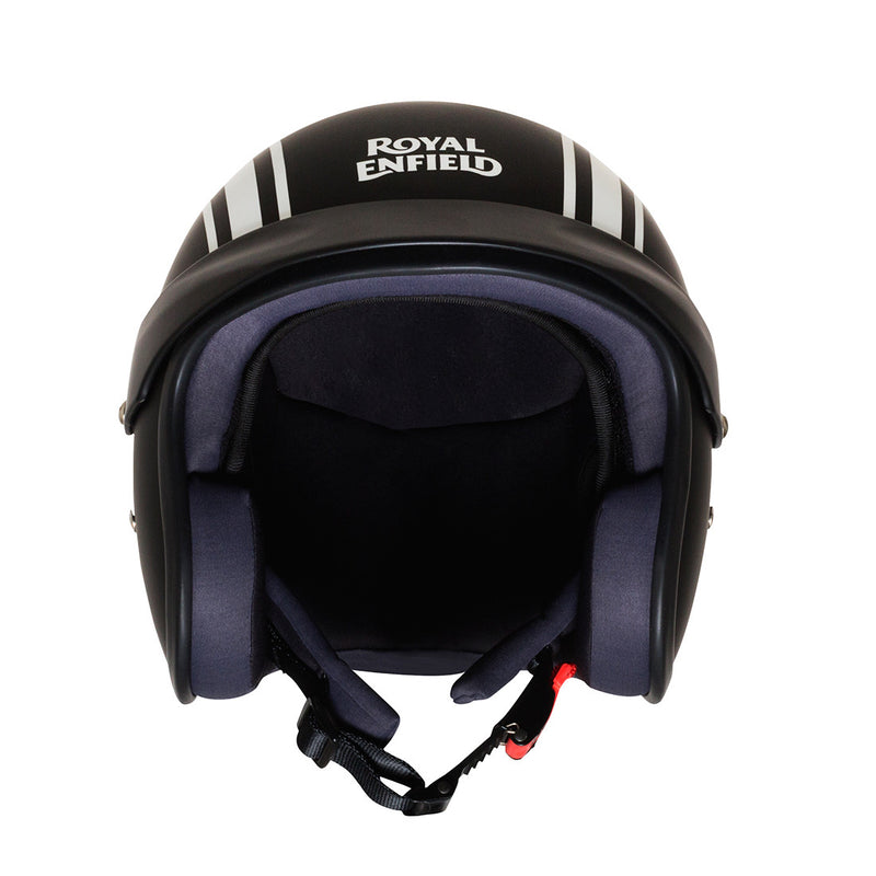 TWIN STRIPES SUNPEAK HELMET Matt Black