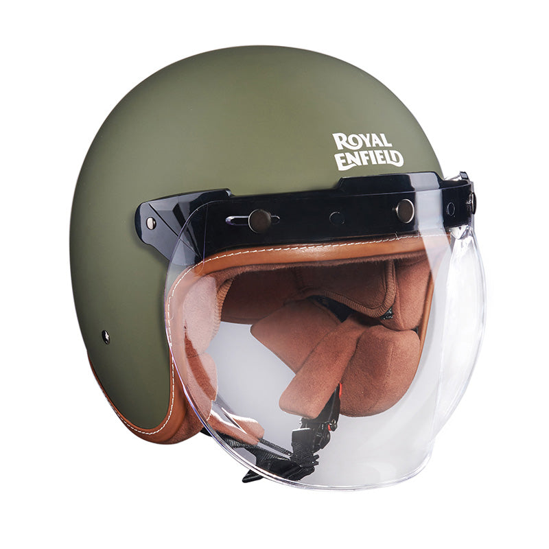 Bobber Helmet Matt Battle Green - Royal Enfield