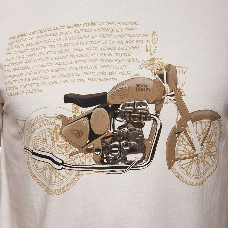 Classic Desert Storm T-Shirt Off White - Royal Enfield