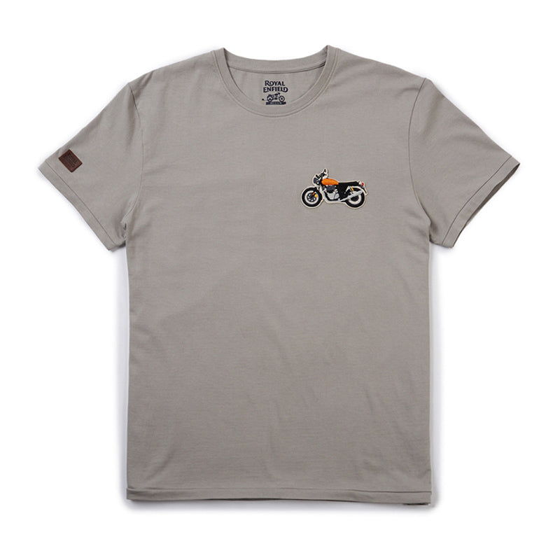 1968 Interceptor Logo T-Shirt Grey - Royal Enfield