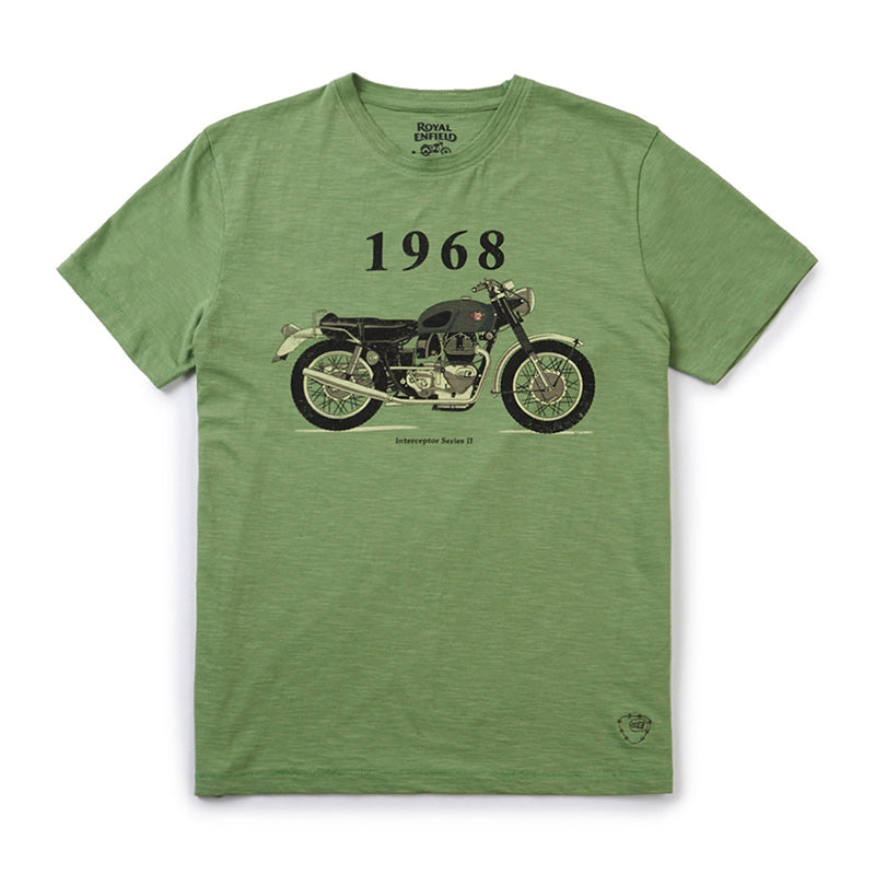 1968 Interceptor T-Shirt Green - Royal Enfield