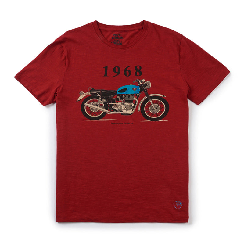 1968 Interceptor T-Shirt Red - Royal Enfield
