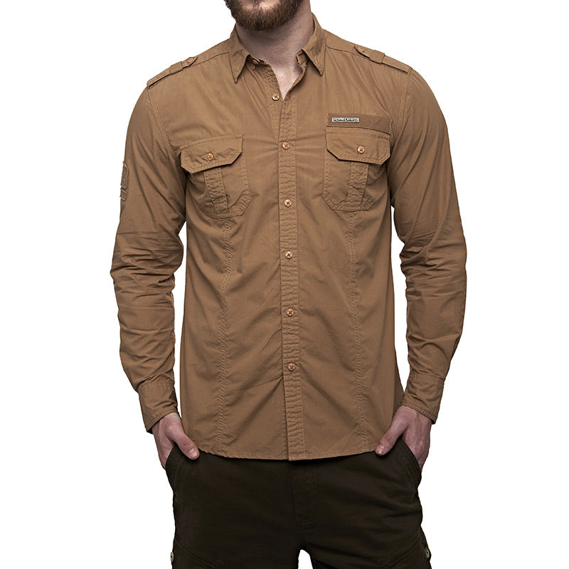 Army Fatigue Shirt Khaki Brown