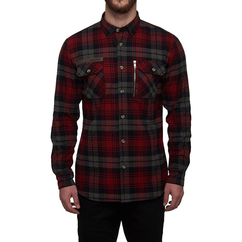 Big Bear Run Checkered Shirt Red Grey