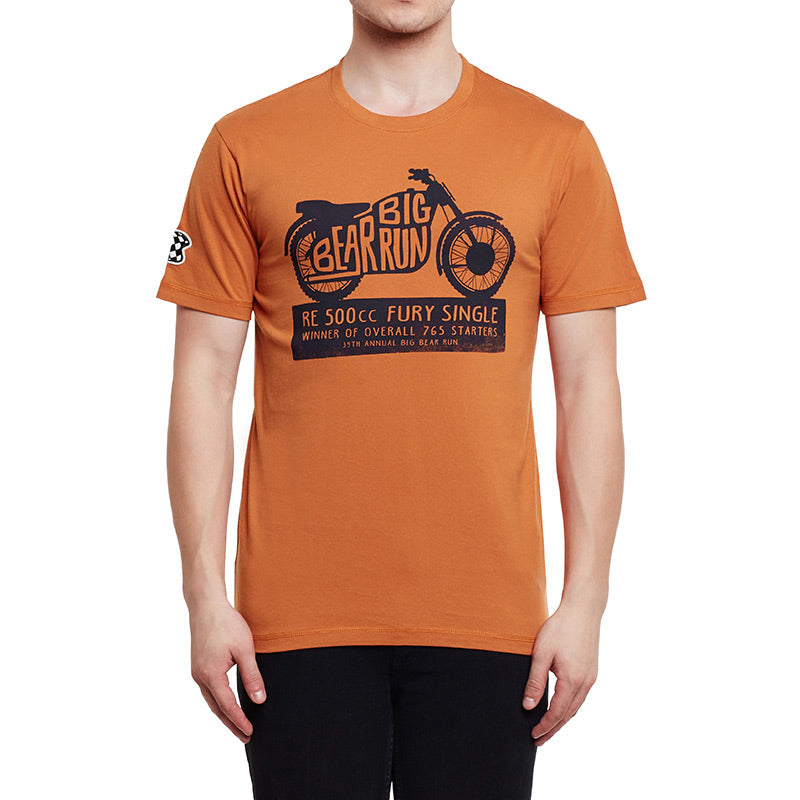 Big Bear Run Fury T-Shirt Rust Orange