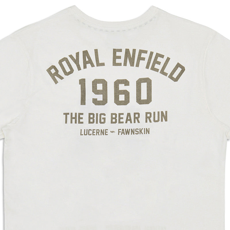 Big Bear Run Two Racers T-Shirt Off White - Royal Enfield