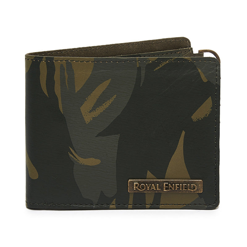 Brushstroke Camo Wallet Camo Green
