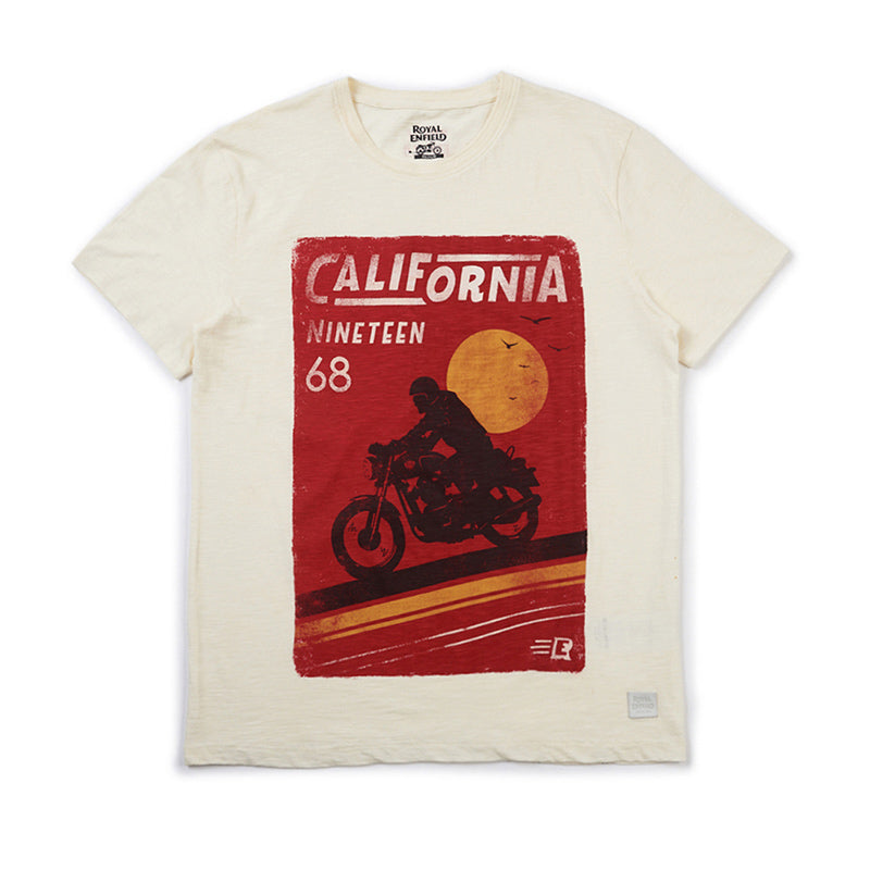 California Cool T-Shirt Off White - Royal Enfield