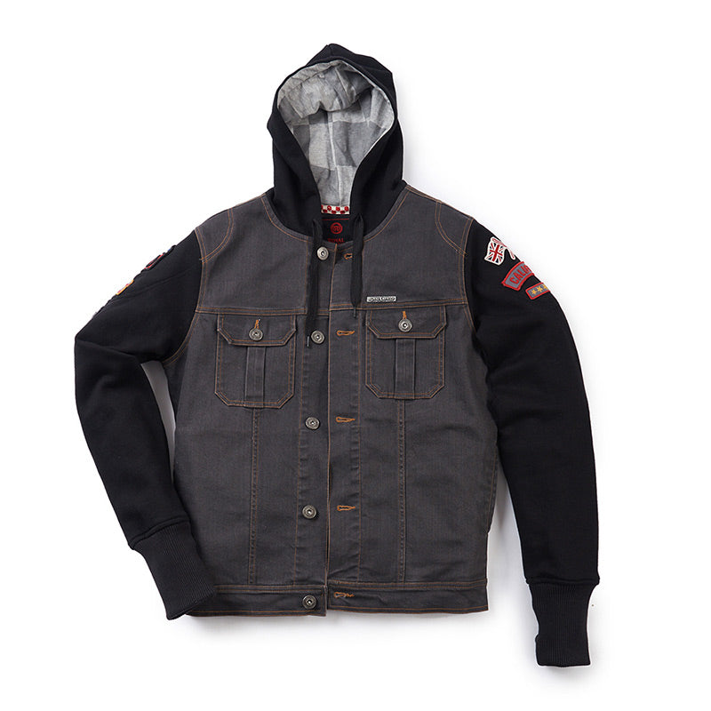 California Hoodie Jacket Charcoal Black - Royal Enfield