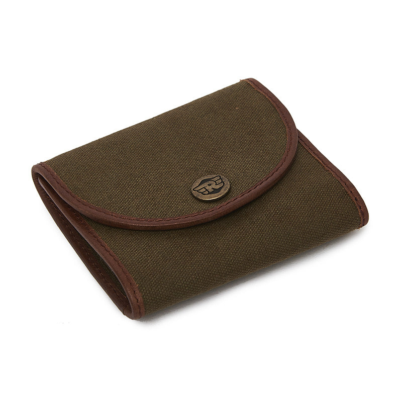 Canvas Card Wallet Khaki Brown