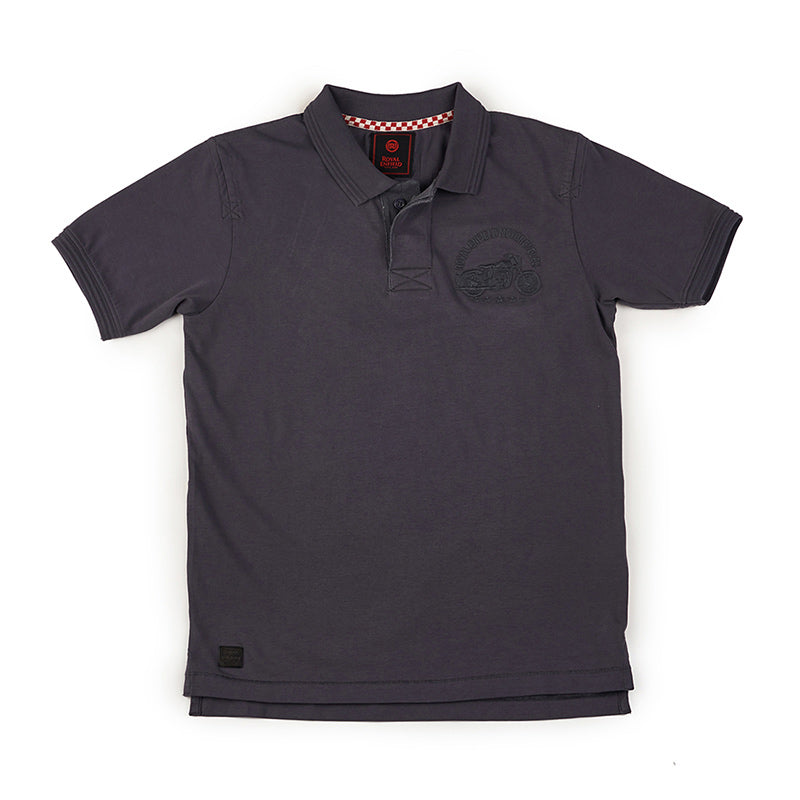 Chief Polo T-Shirt Charcoal Grey