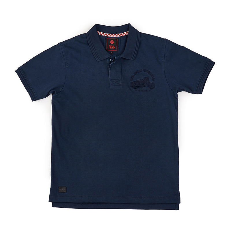 Chief Polo T-Shirt Navy Blue - Royal Enfield