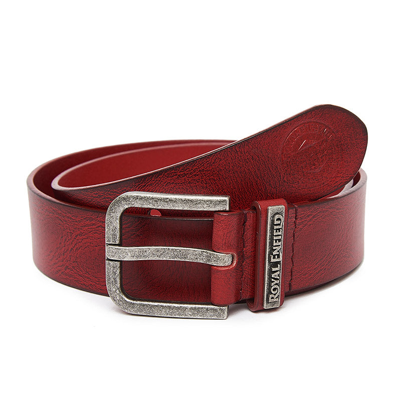 Classic Leather Belt Wine Red - Royal Enfield