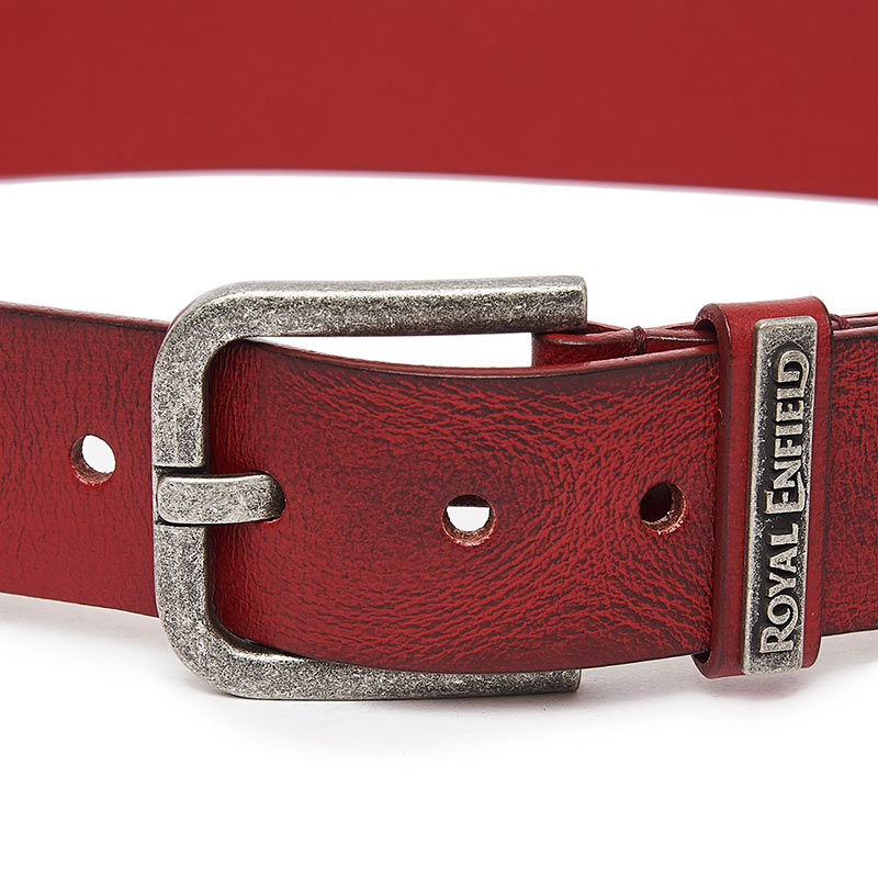 Classic Leather Belt Wine Red