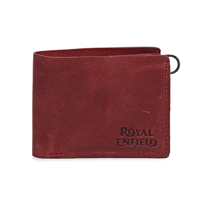 Classic Leather Wallet Wine Red - Royal Enfield