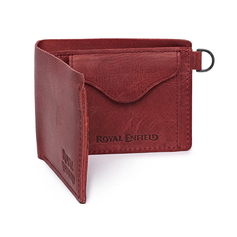 Classic Leather Wallet Wine Red