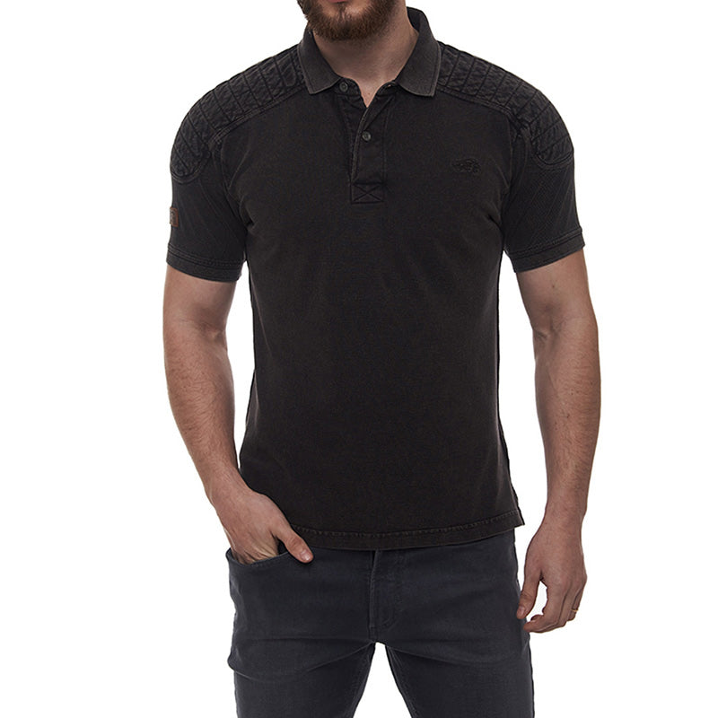 Classic Moto Polo T-Shirt Black - Royal Enfield