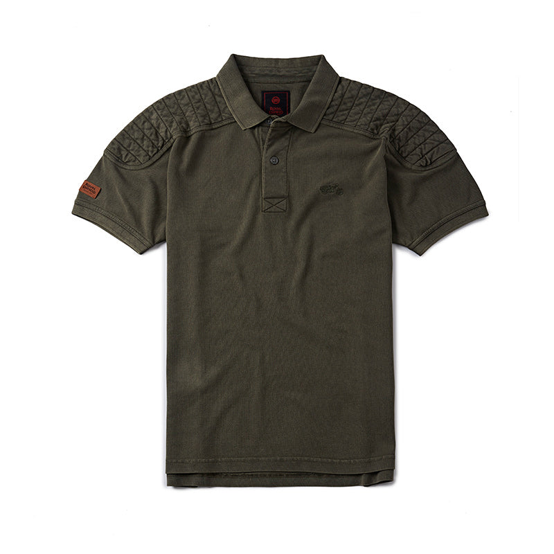Classic Moto Polo T-Shirt Olive Green