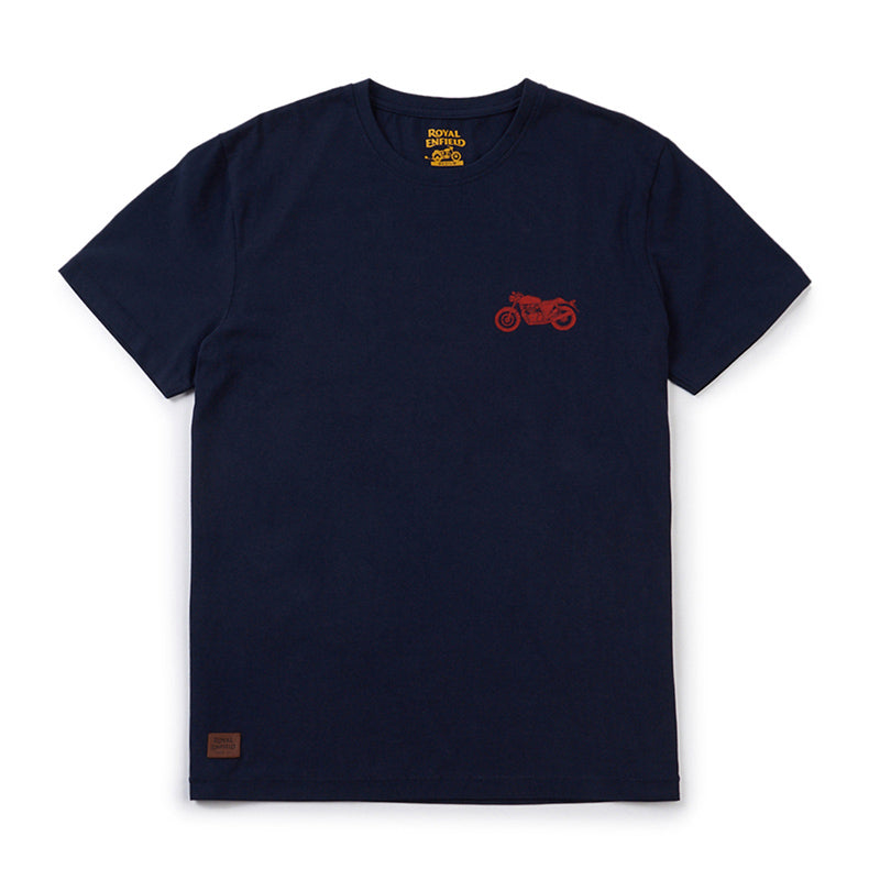 Continental 650 Twin Moto T-Shirt Navy Blue - Royal Enfield