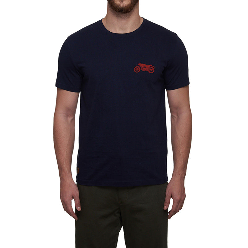 Continental 650 Twin Moto T-Shirt Navy Blue