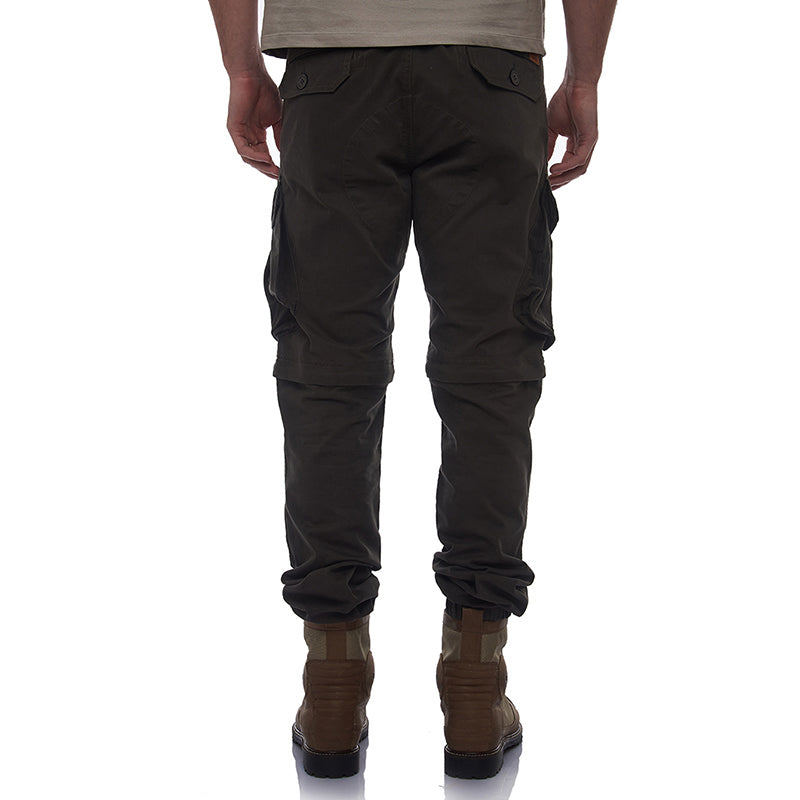 Convertible Cargo Jogger Pants Charcoal Grey