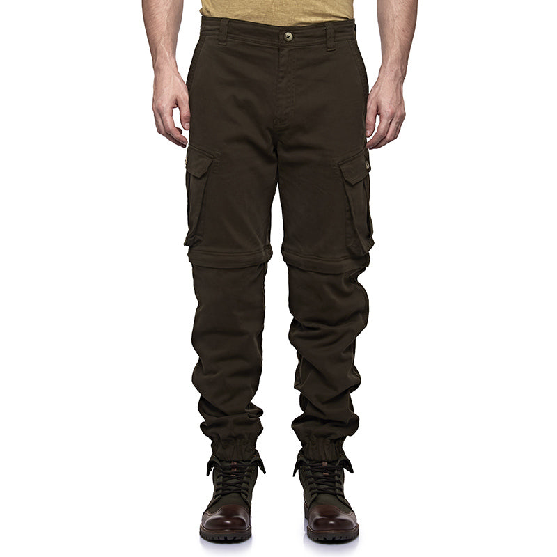 Convertible Cargo Jogger Pants Olive Green - Royal Enfield