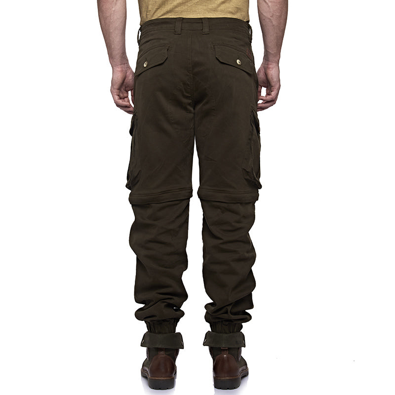 Convertible Cargo Jogger Pants Olive Green