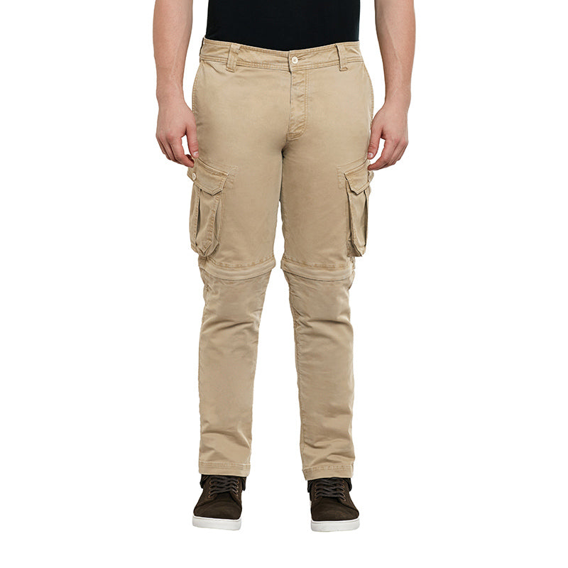 Convertible Cargo Pants Khaki Brown - Royal Enfield