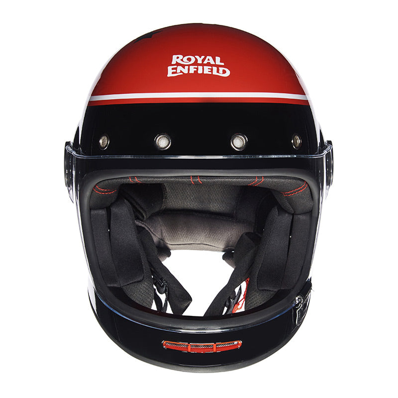 DRIFTER HELMET RIDE MORE Black Red - Royal Enfield