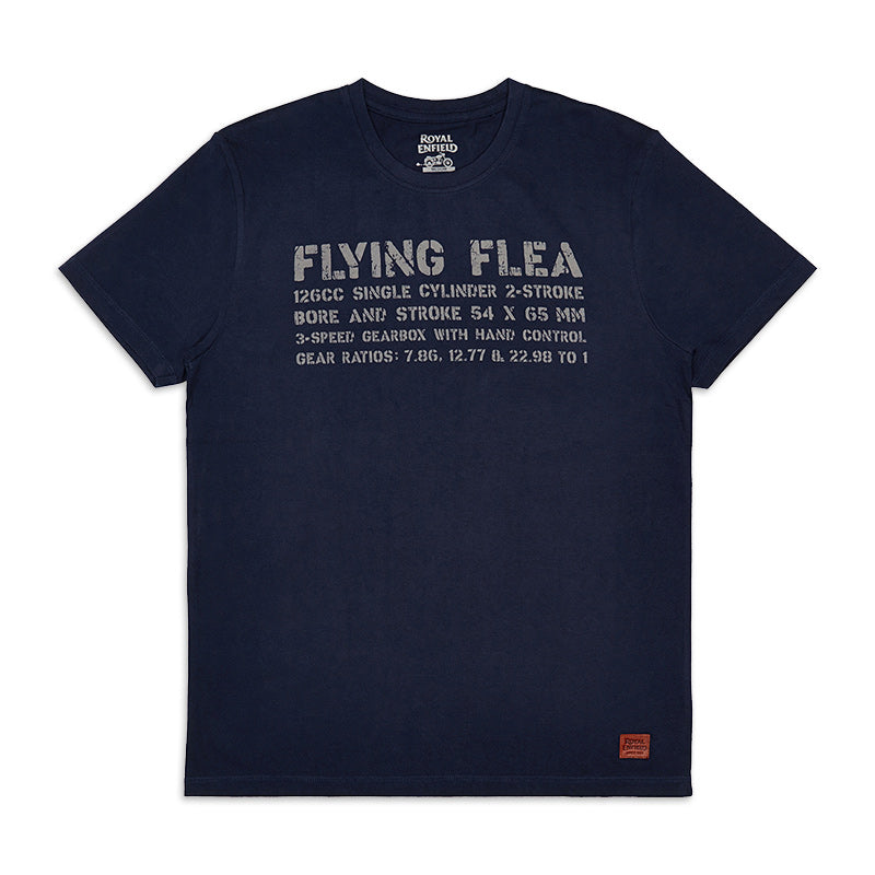 Flying Flea Legend T-Shirt Navy Blue