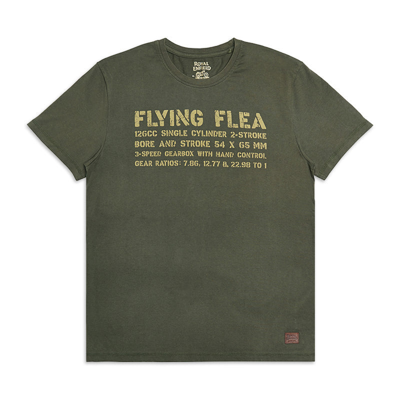 Flying Flea Legend T-Shirt Olive Green