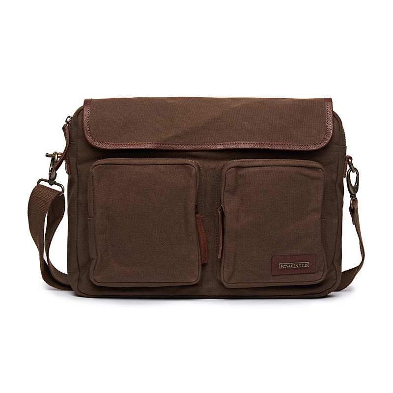 Flying Flea Messenger Bag Khaki Brown