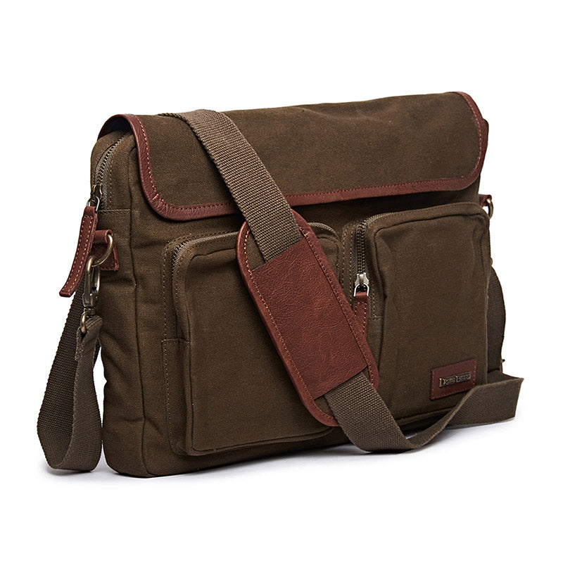 Flying Flea Messenger Bag Olive Green