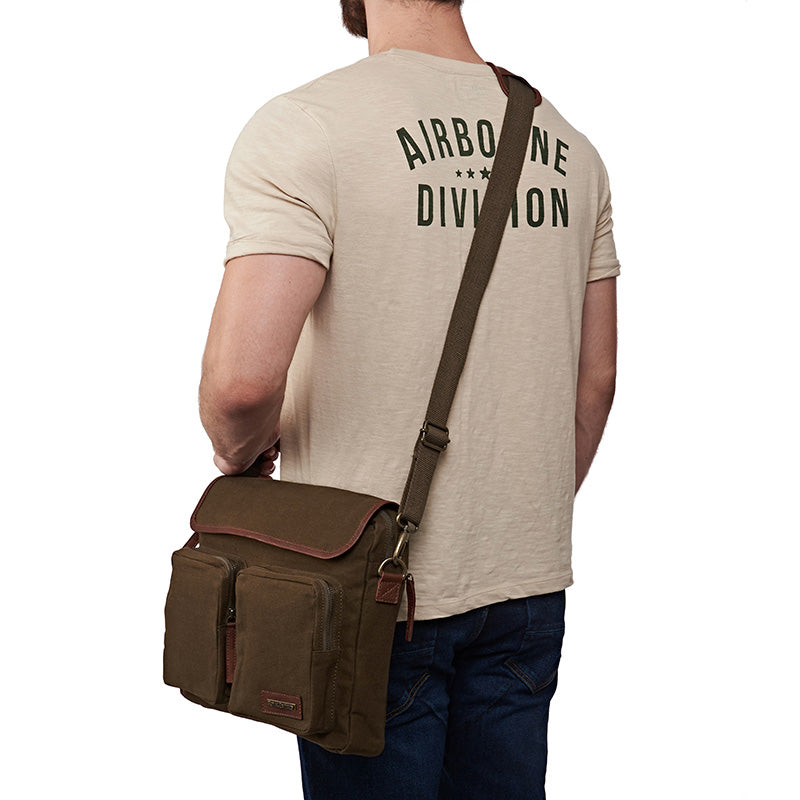 Flying Flea Messenger Bag Olive Green - Royal Enfield