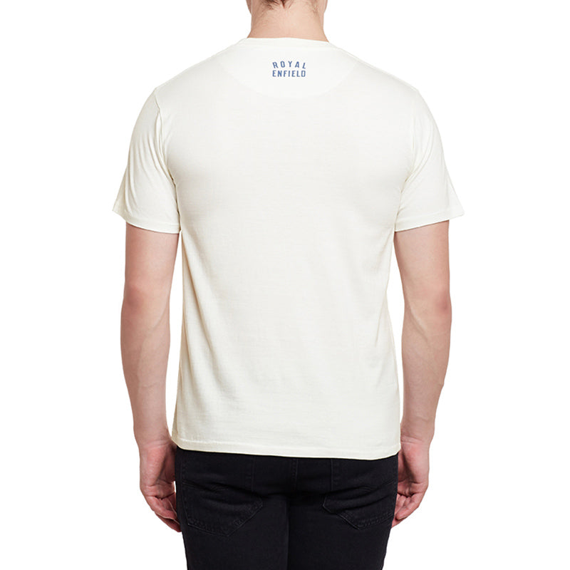 Got Roost Masterpiece T-Shirt Off White - Royal Enfield