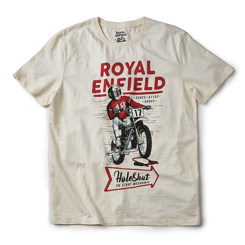 Holeshot T-Shirt Off White - Royal Enfield