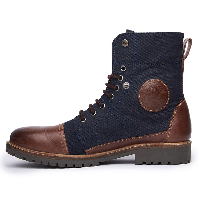 Huntsman Boots Blue Brown - Royal Enfield
