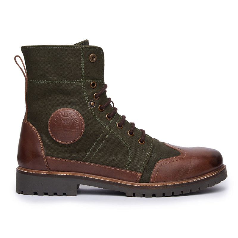 Huntsman Boots Green Brown