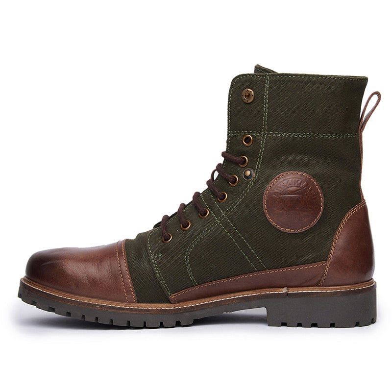 Huntsman Boots Green Brown - Royal Enfield