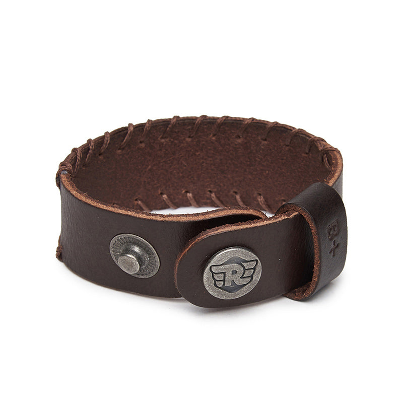 Ice Leather Bracelet Dark Brown