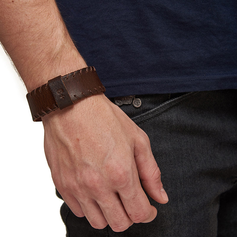 Ice Leather Bracelet Dark Brown - Royal Enfield