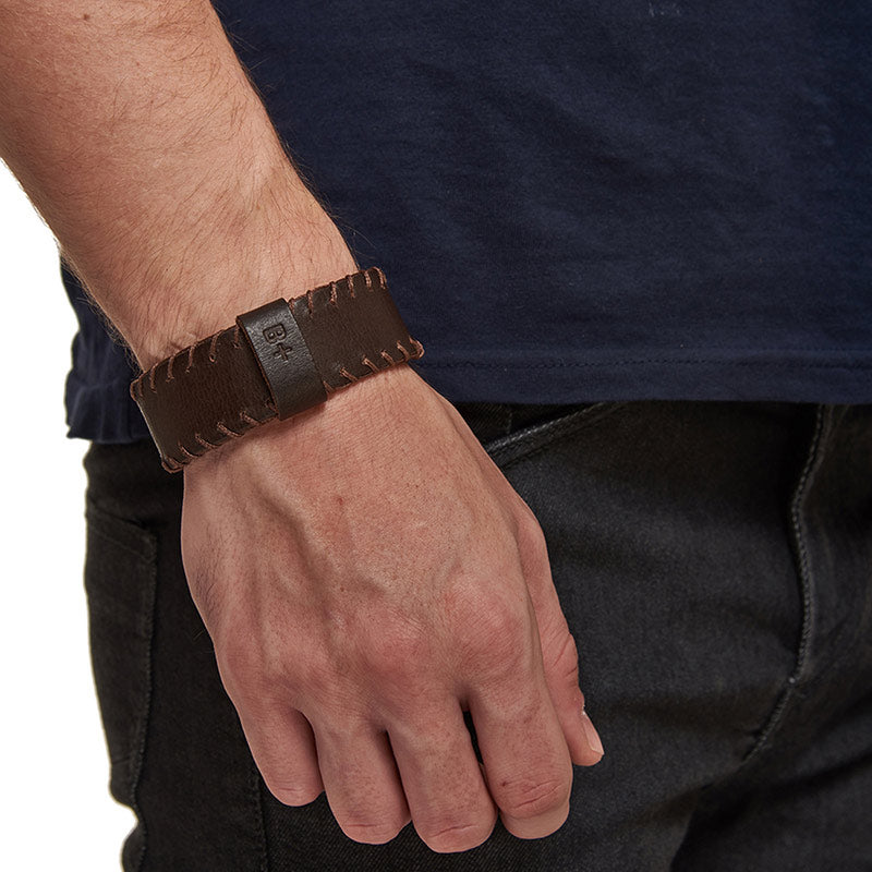 Ice Leather Bracelet Tan Brown - Royal Enfield