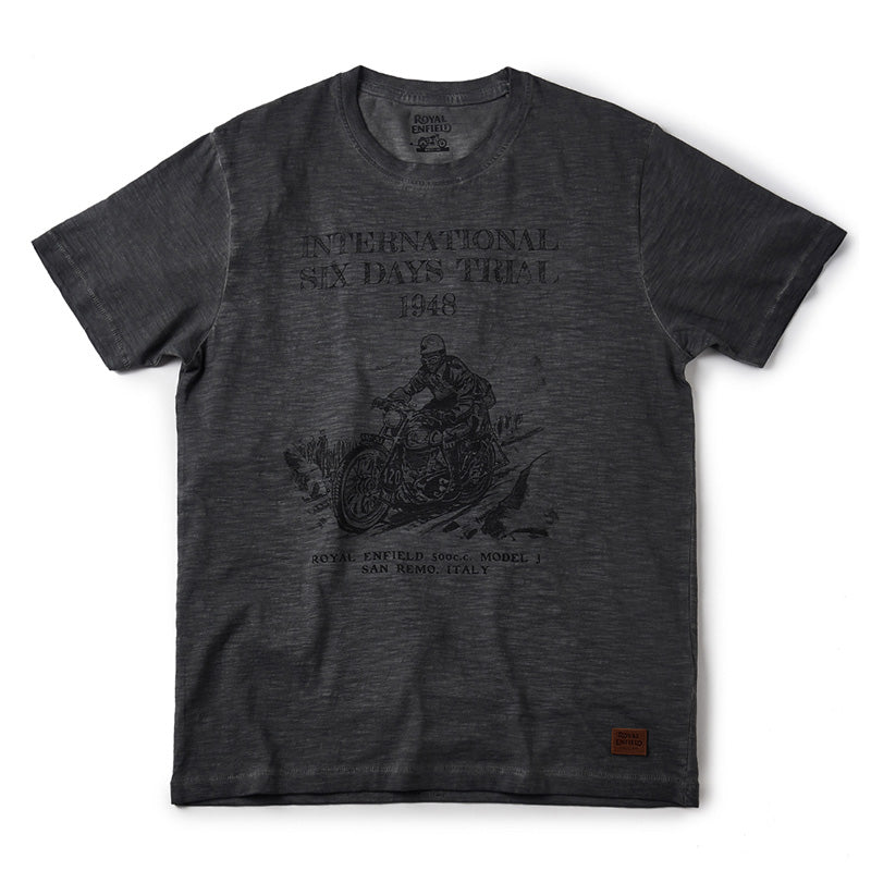 Isdt Model J T-Shirt Grey - Royal Enfield