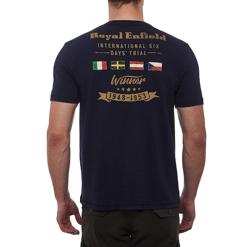 Isdt Winner T-Shirt Navy Blue - Royal Enfield